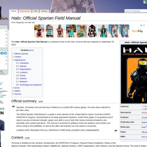 Halo: Official Spartan Field Manual - Halopedia, the Halo encyclopedia