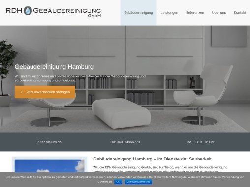 Gebäudereinigung Hamburg mit RDH