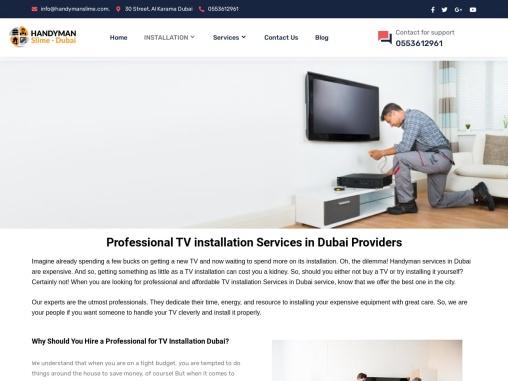 TV Installation Services in Dubai