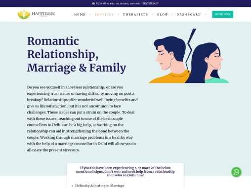 Relationship Counsellor in Delhi
