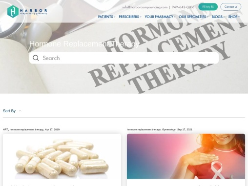 Benefits of Hormone replacement therapy(HRT)   Harbor Compounding