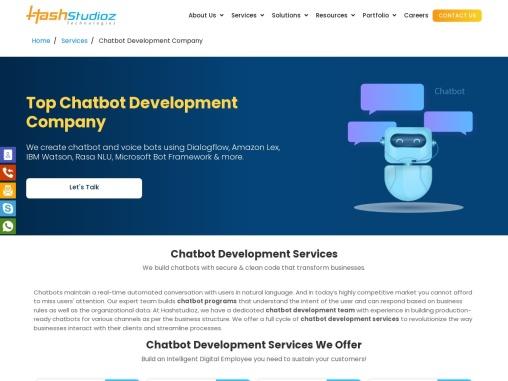 Chatbot Development Company I Hashstudioz