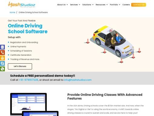 Online Driving School Software