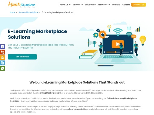 eLearning marketplace solutions company