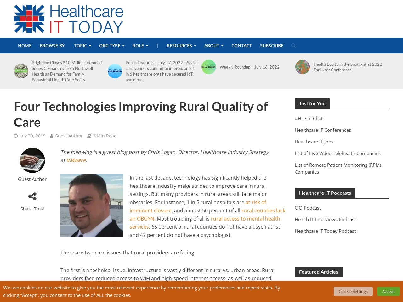 Four Technologies Improving Rural Quality of Care
