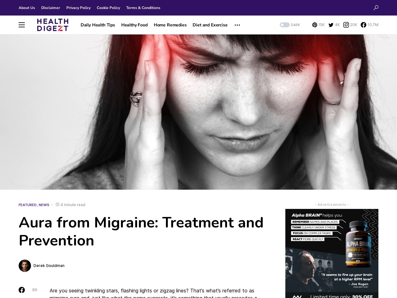 Aura from Migraine: Treatment and Prevention