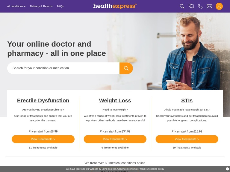 HealthExpress screenshot