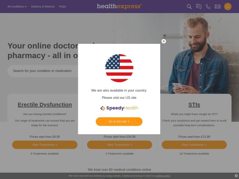 HealthExpress screenshot