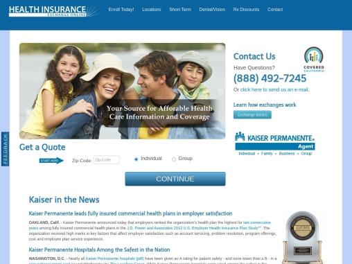 Kaiser Medical Insurance – Health Insurance Exchange Online