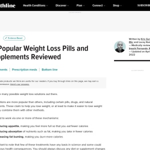 12 Popular Weight Loss Pills and Supplements Reviewed