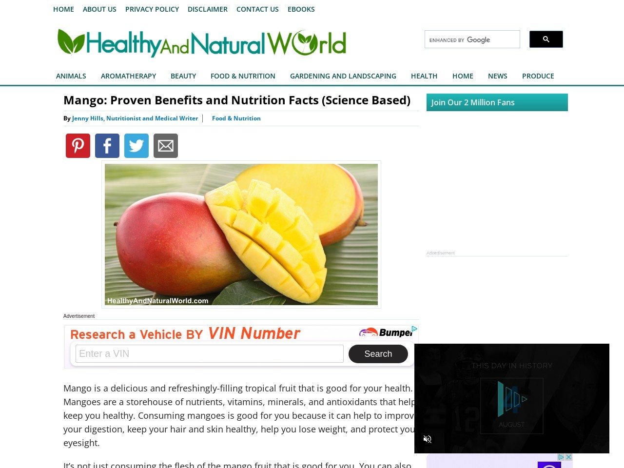Mango: Proven Benefits and Nutrition Facts (Science Based)