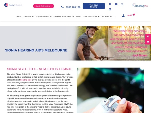 Signia Hearing Aids Melbourne | Hearing Professionals