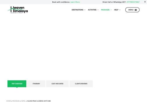 Island Peak Climbing in Nepal 2021