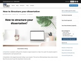 how to structure your dissertation