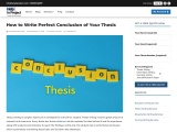 How to write perfect conclusion of your thesis