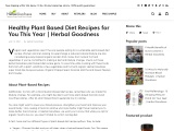 HEALTHY PLANT BASED DIET RECIPES FOR YOU THIS YEAR | HERBAL GOODNESS