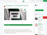 Union Budget 2021-22: Growth Engine for the Economy