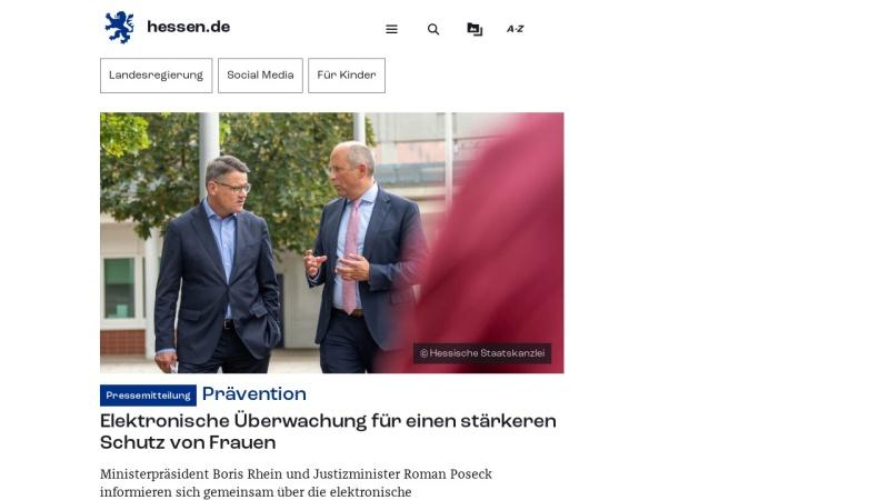 www.hessen.de Vorschau, Hessische Landesregierung