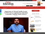 Importance of Abroad Studies in post COVID-19 Era explained by Education Counsellor Gopalan Anish Ac