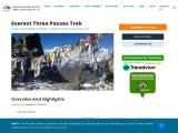 Everest Three Passes Trek in Nepal
