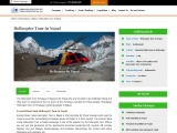 Helicopter tour in Nepal Himalaya
