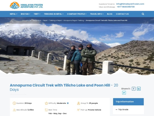 Annapurna Circuit Trek with Tilicho Lake and Poon Hill – Himalayan Frozen Adventure
