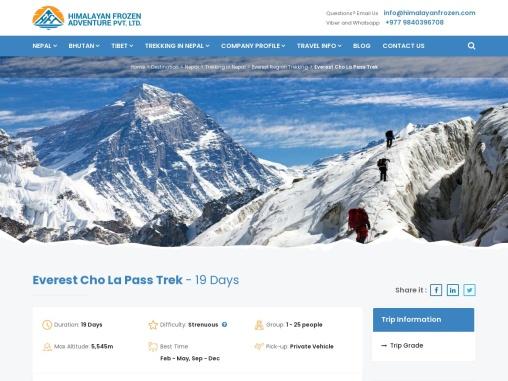 Everest Cho La Pass Trek – Himalayan Frozen Adventure
