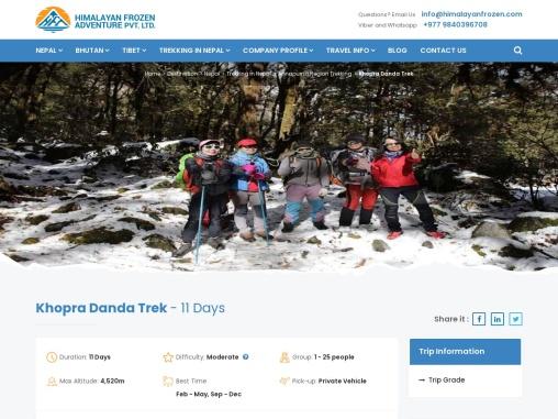 Khopra Danda Trek – Himalayan Frozen Adventure