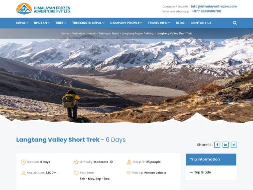 Langtang Valley Trek – Himalayan Frozen Adventure