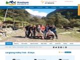 Langtang Valley Trek in Nepal Himalayas region