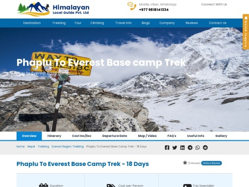 Phaplu To Everest Base Camp Trek – EBC Trek From Phaplu