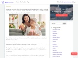 What Mum Really Wants for Mother's Day 2021