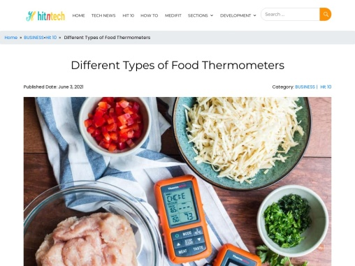 Different Types of Food Thermometers