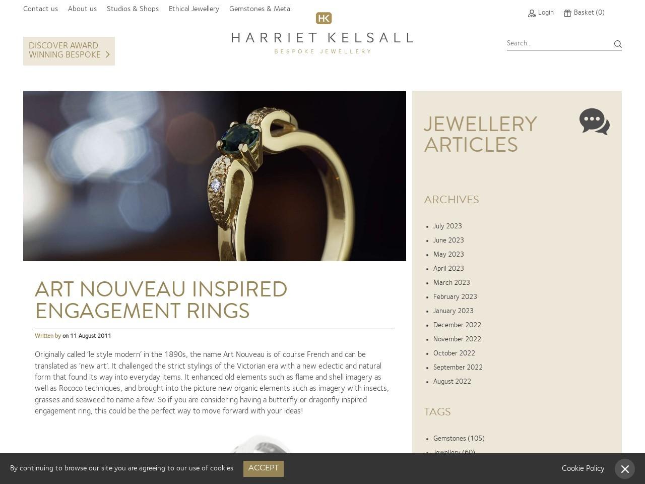 Art Nouveau Inspired Engagement Rings – Harriet Kelsall …