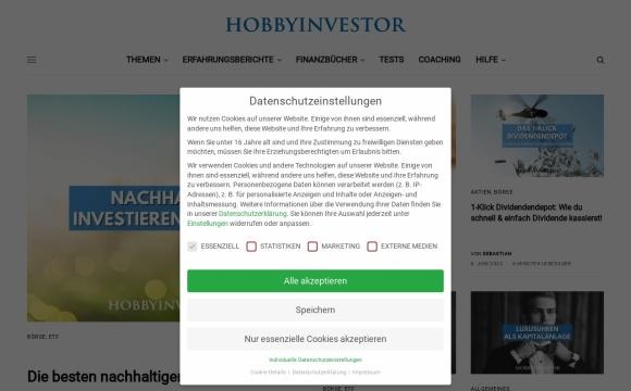 Hobbyinvestor - Vermögensaufbau selbst in die Hand nehmen