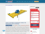 How to optimize overhead crane for maximum hook coverage