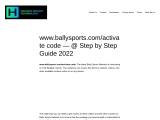 How to do ballysports.com activate easily ?