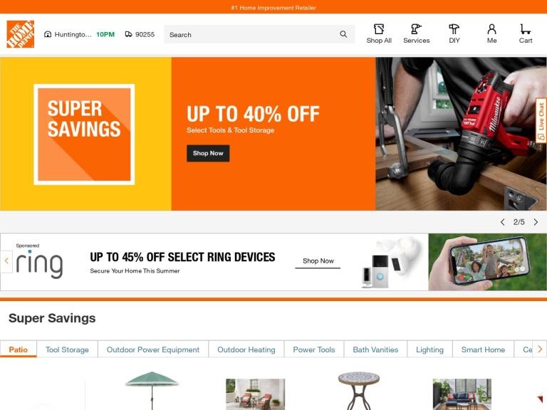 Home Depot Coupon Codes screenshot