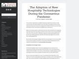 The Adoption of New Hospitality Technologies During the Coronavirus Pandemic