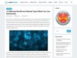 13 Different WordPress Website Types Which You Can Build Easily!