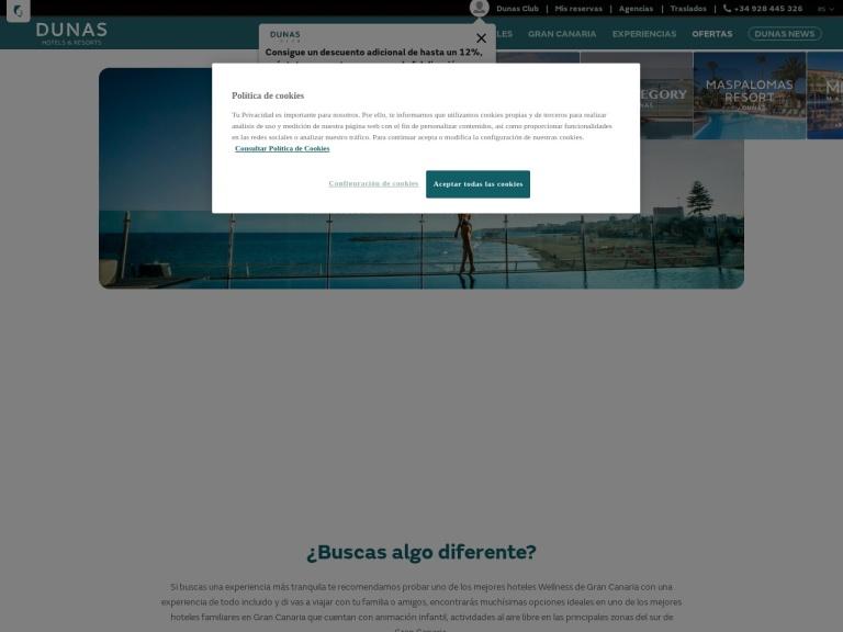 Dunas Hotels & Resorts screenshot