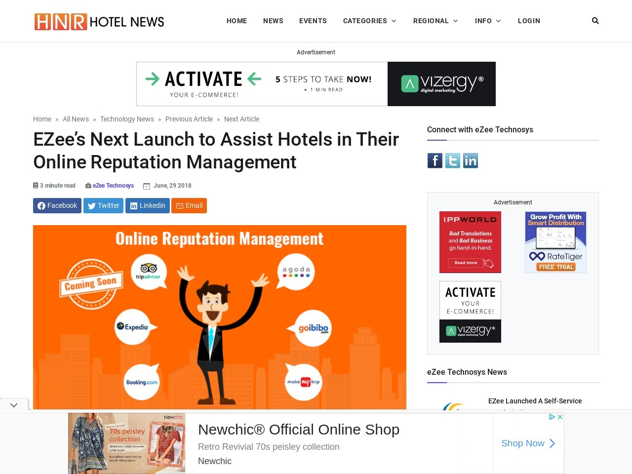 EZee's Next Launch to Assist Hotels in Their Online Reputation Management