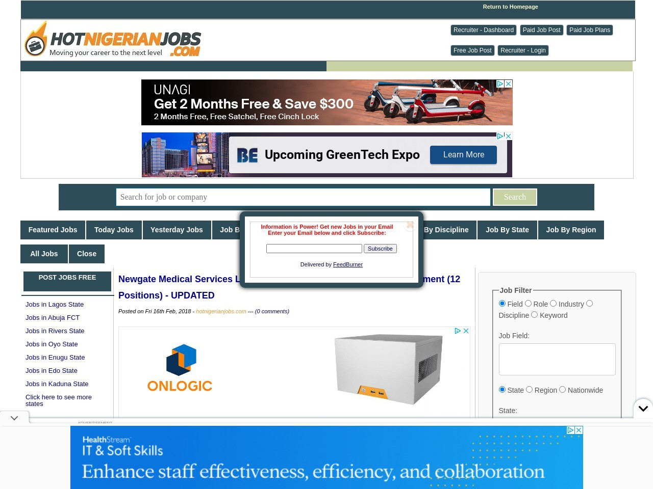 Newgate Medical Services Limited Fresh Graduate & Exp. Job Recruitment (12 Positions) – UPDATED
