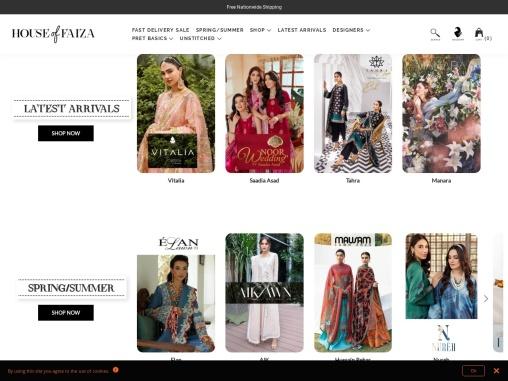 House of Faiza   Pakistani Designer Dresses & Clothing Brands