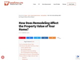 How does improvement affect the property value of your home?