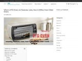 What is OTG Oven- meaning, features, uses, how it differs from other ovens