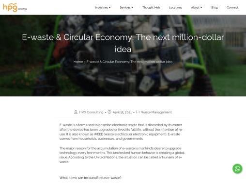 E-waste & Circular Economy: The next million-dollar idea