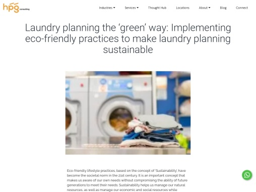 Laundry planning the 'green' way: Implementing eco-friendly practices to make laundry planning susta