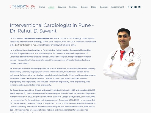 Interventional Cardiologist in Pune – Dr. Rahul. D. Sawant
