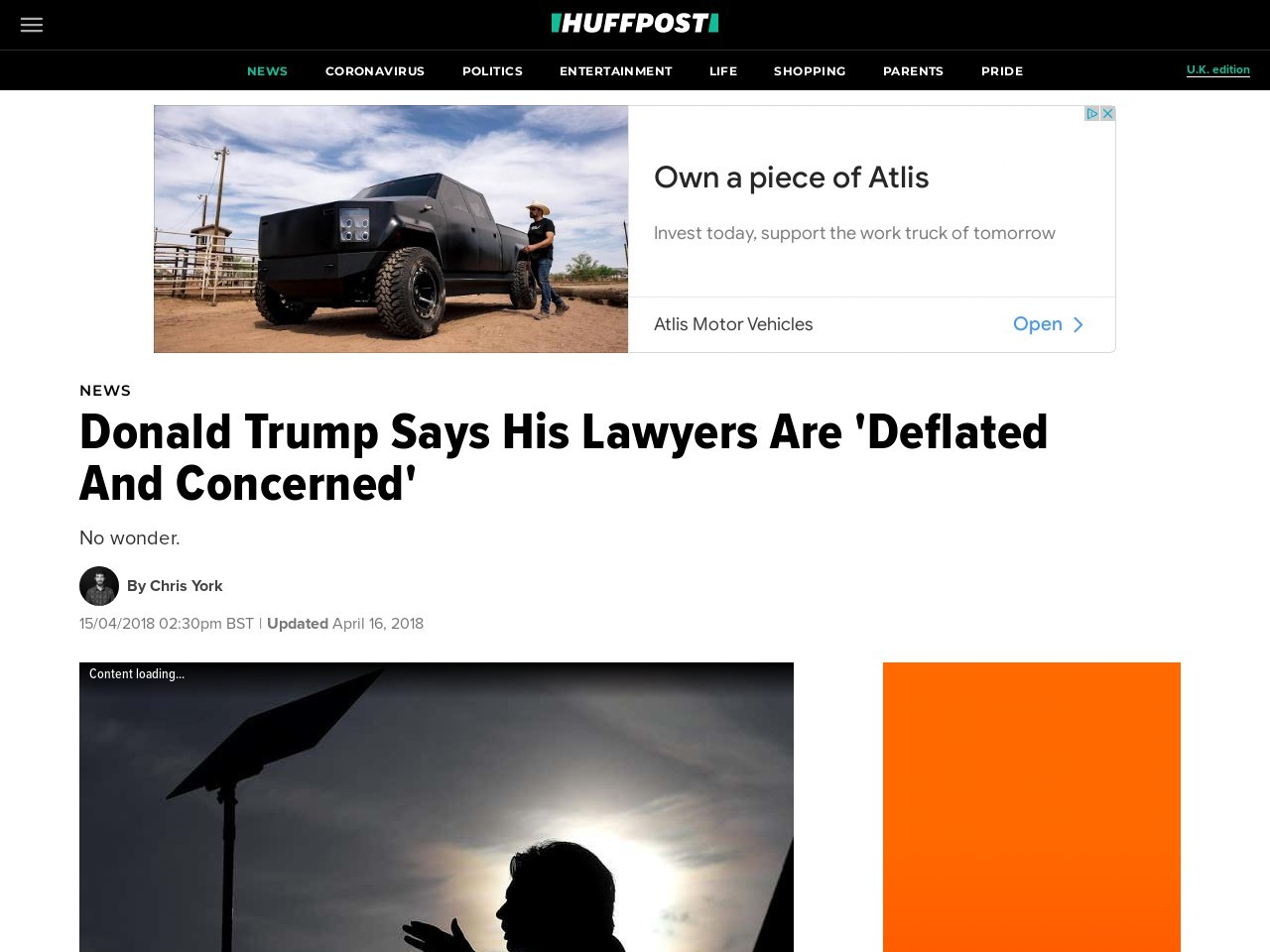Donald Trump Says His Lawyers Are 'Deflated And Concerned'